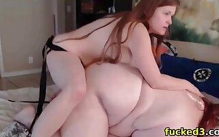 fucking my lesbian fat bbw girlfriend with a strapon
