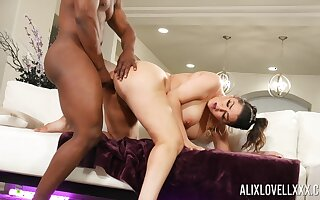 Big ass MILF tries her luck with along to neighbor's upper case black dick