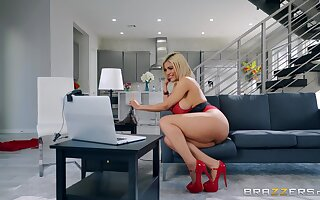 busty Latina rides and swallows in premium XXX