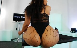 Fat botheration BBW stripper Tiffany Times twerking - malignant with chubby botheration in fishnets