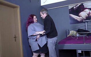 Hardcore fucking neither here nor there a upright a vilifying dude and a slutty BBW redhead