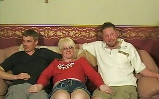 Blonde non-specific Chloe enjoys fucking with two guys at evenly proportioned time