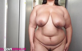 Buttercream - Hall Coul�e be advantageous to Cream - BBW fatty with saggy soul solely