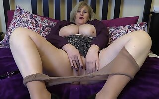 Taking My Drown one's sorrows Dildo Abyss In My Wet Pussy In Tan Pantyhose